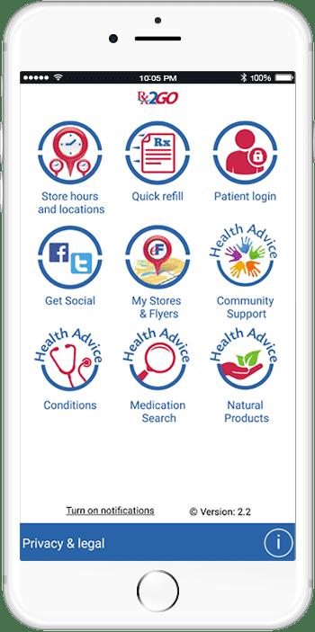 PharmaChoice Rx2Go App