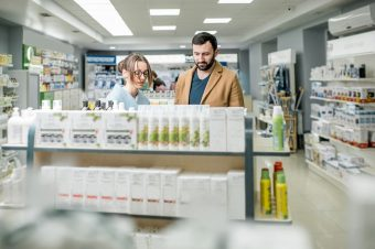 couple shopping pharmacy